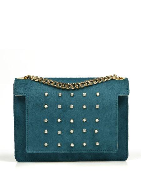 Aruba Blue Pearl-Embellished  Bag