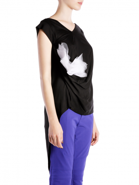 Asymmetric Cotton T-shirt