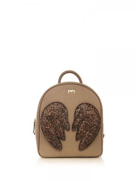 Beige Ami Brown Wings Backpack