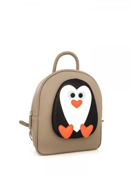 Beige Ami Penguin Backpack