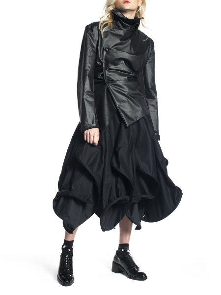 Black Asymmetric Jacket