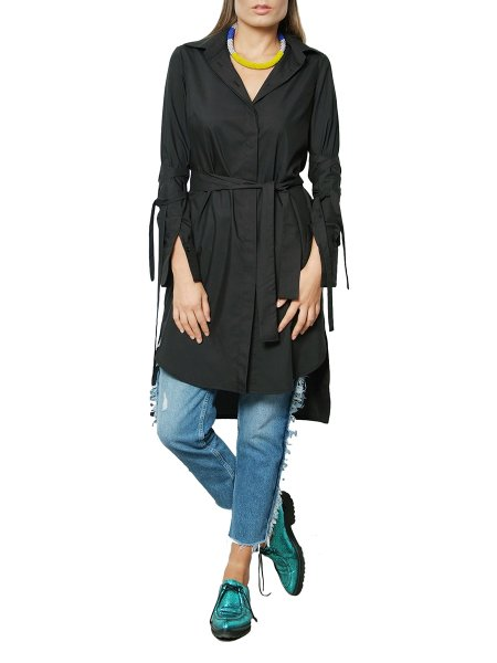 Black Cotton Shirt/Dress