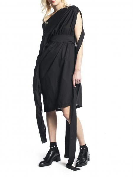 Black Dress with Ribbons