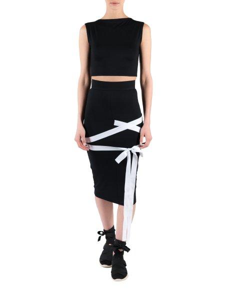 Black Midi Skirt With Braids