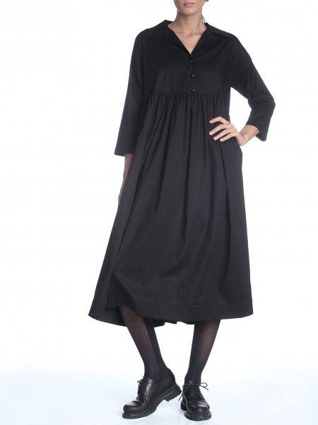 Black Oversized Midi Dress