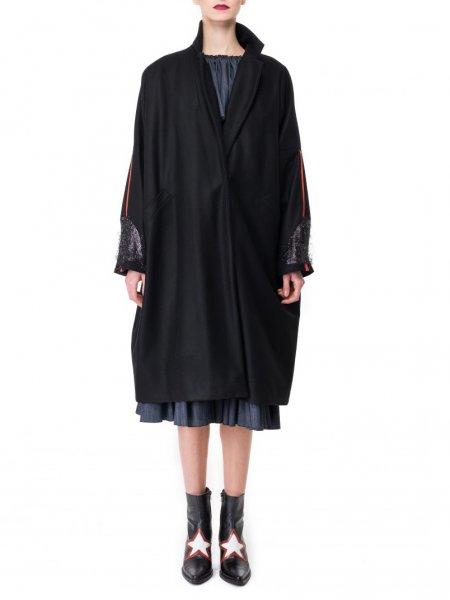 Black Oversized Wool Jacket
