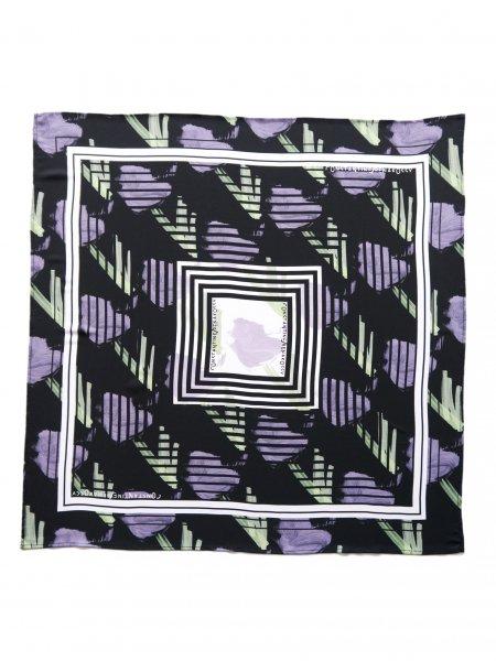 Black Printed Veil Scarf