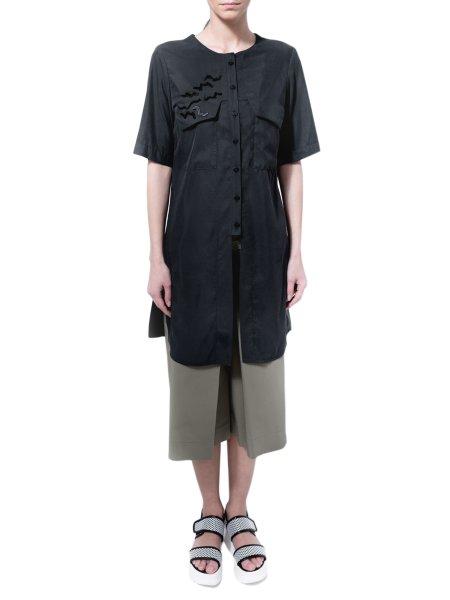 Black Shirt With Laser Cut Details
