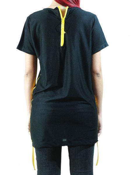 Black T-shirt with Back Zip