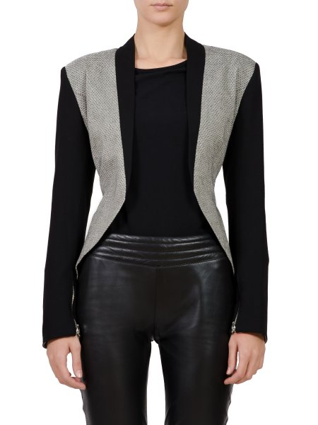 Black Textured Jacket
