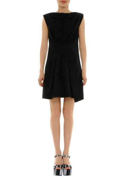 Black Viscose Mini Dress