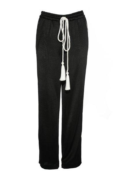 Black Viscose Trousers