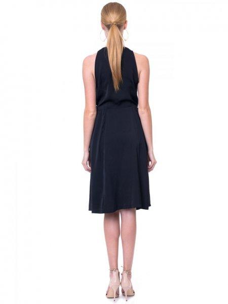 Black Waterfall Mini Dress