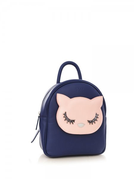 Blue Ami Pink Kitty Backpack