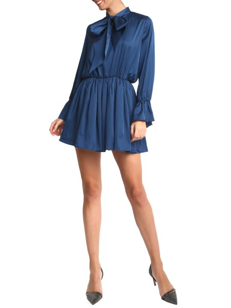 Blue Lolite Silk Dress