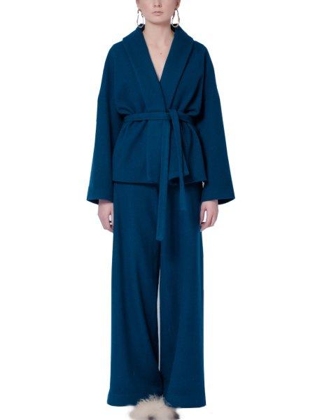 Blue Woolen Coat