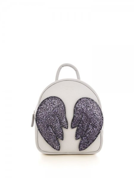 Brown Ami Backpack with Purple Wings