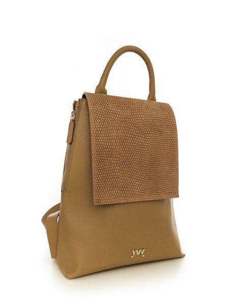 Brown Clara Velour Backpack