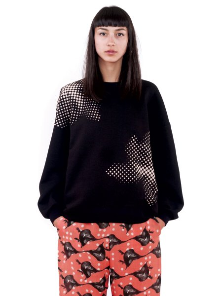 Bubble Black Sweatshirt
