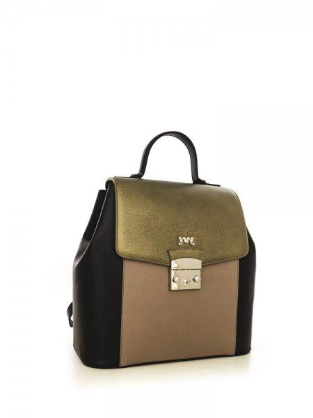 Caramel Aceline Safiano Backpack