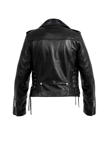 Cropped Classic Leather Jacket