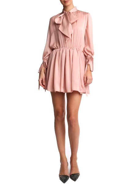 Crystal Pink Silk Dress