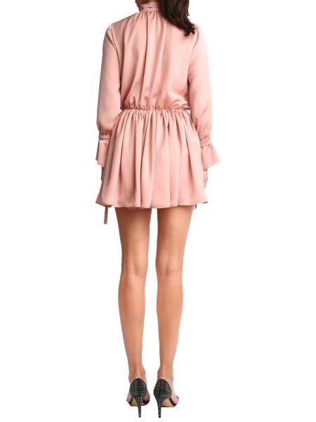 Crystal Pink Silk Dress