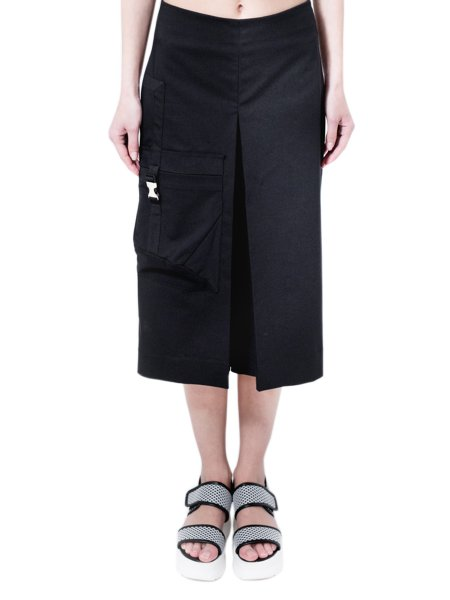 Culotte Skirt-Pants With Applied Pocket