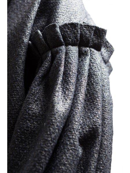Dark Blue Woolen Overcoat