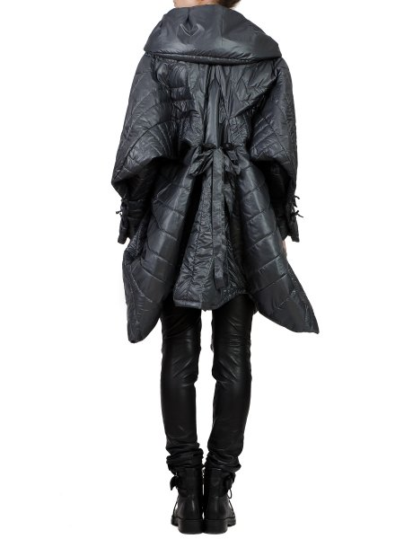 Dark Grey Asymmetric Hooded Jacket