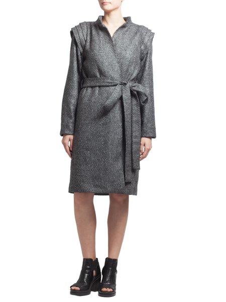 Dark Grey Woolen Overcoat