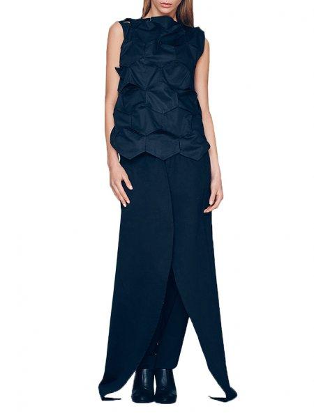 Deconstructed Black Pants