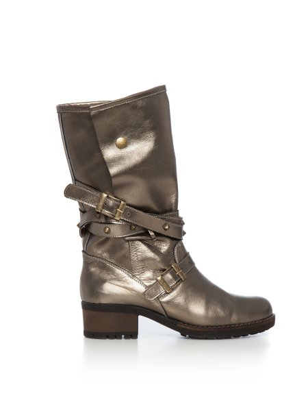 Dirty Gold Leather Boots