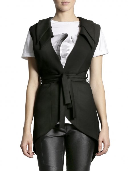 Double Collar Cotton Vest
