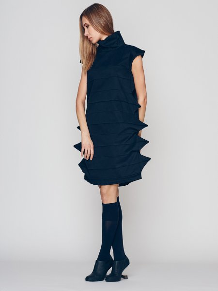 Evening Dress With Geometric Details