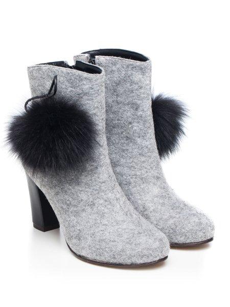 Felt Ankle Boots with Black Bundle