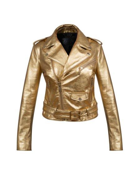 Golden Leather Jacket
