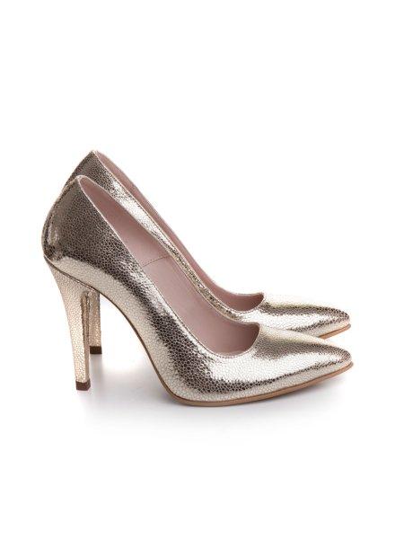 Golden Stiletto Shoes