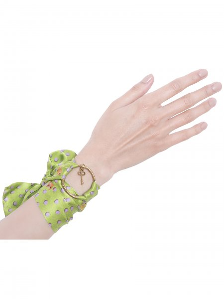 Green Pure Silk Bracelet