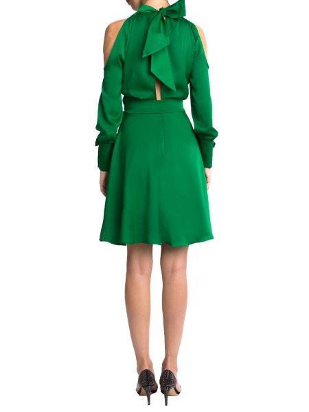 Greenery Silk Dress