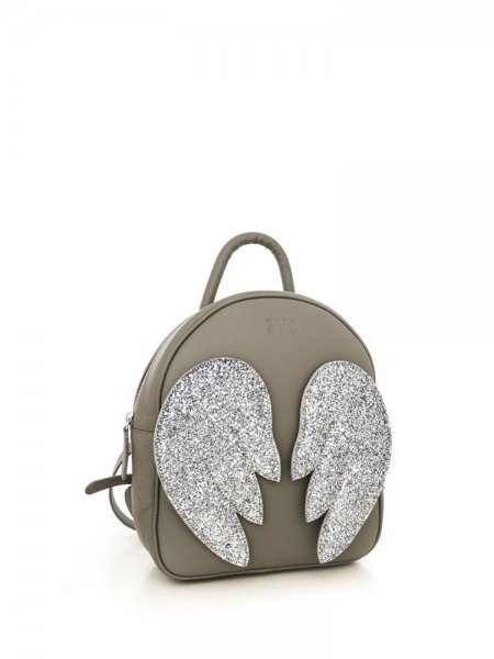 Grey Ami Backpack with White Wings