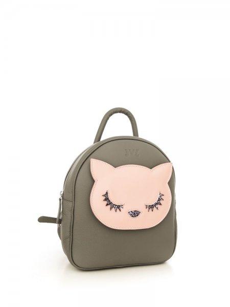Grey Ami Pink Kitty Backpack