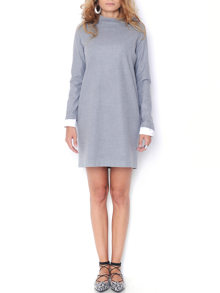 Grey soft wool and cashmere blend dress