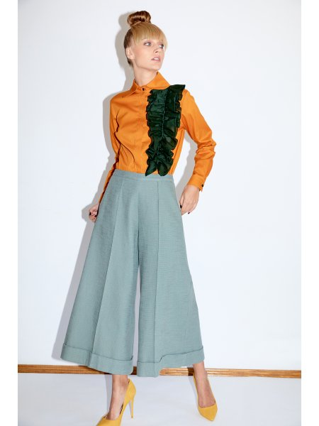 High Waist Mint Culottes