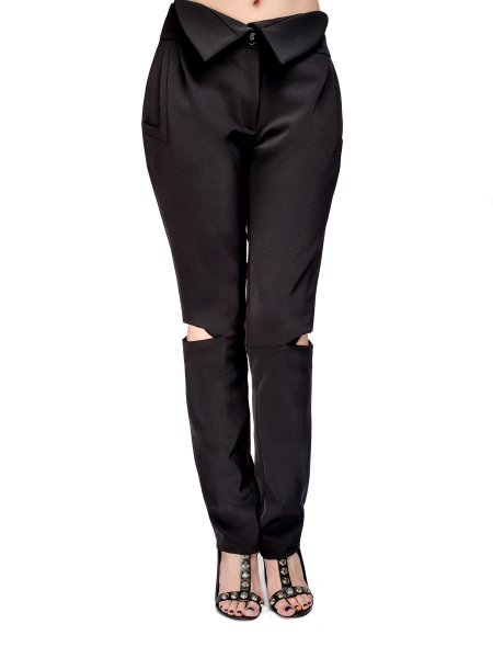 High Waisted Viscose Trousers