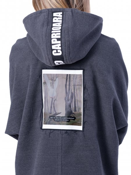 Hooded Sweatshirt With Back Panel
