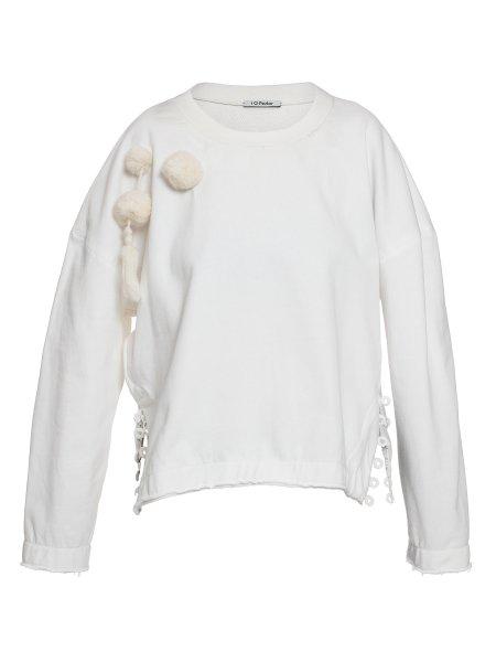 Ivory Cotton Sweatshirt