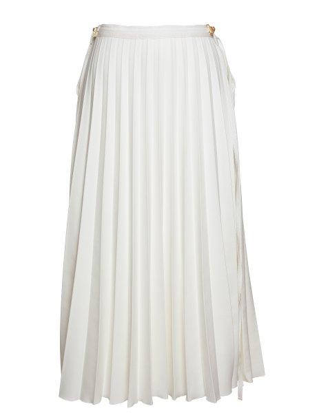 Ivory Pleated Skirt