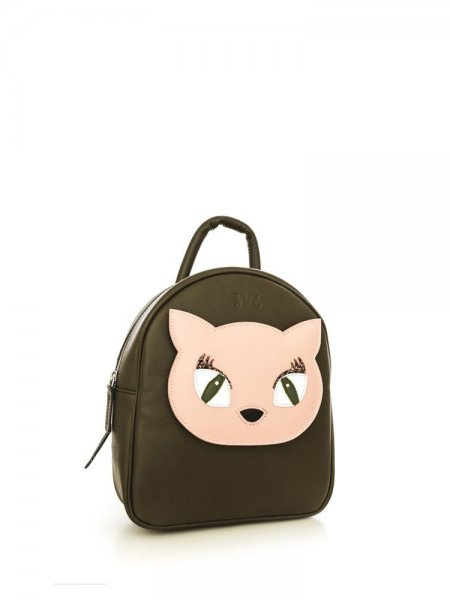Khaki Ami Kitty Backpack
