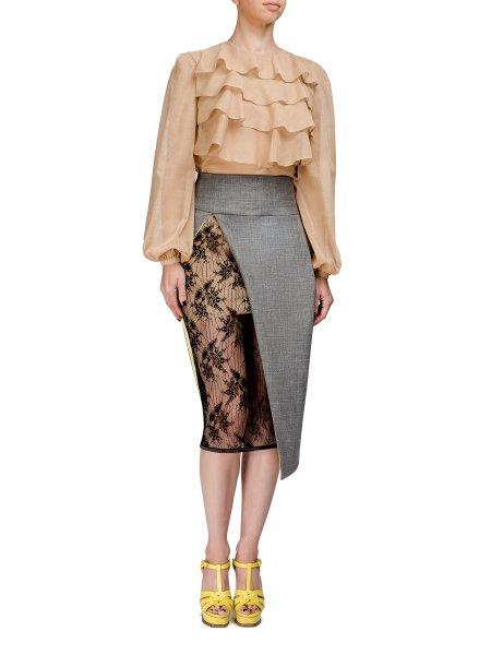 Light Gray Midi Skirt